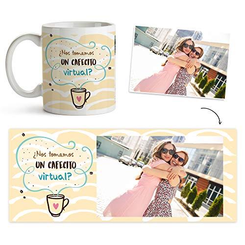 Fotoprix Taza Personalizada con Foto para Mejor Amigo | Regalo Original Amiga | Varios diseños (Café Virtual)