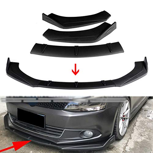 JTAccord ABS Kunststoff Auto Frontstoßstange Lip Spoiler Splitter Cover Trim für Nissan SENTRA Altima Maxima 300Z 350Z 370Z Skyline R33 GTR, Frontstoßstange Diffusor Spoiler, 3 Stück/Set