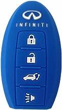 Silicone Fob Cover Key Jacket for INFINITI EX35 INFINITI FX35 INFINITI FX50 INFINITI G35 INFINITI G37 INFINITI M35 INFINITI M35h INFINITI M45 INFINITI M56 INFINITI QX56 Smart Key