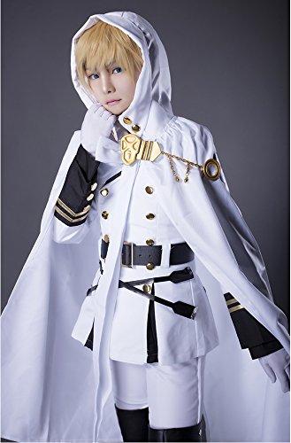 Sunkee Seraph of the End Vampires Mikaela Hyakuya Uniform Outfit Cosplay Kostüm (L: 165-170cm, 55-60kg, Mikaela Hyakuya)