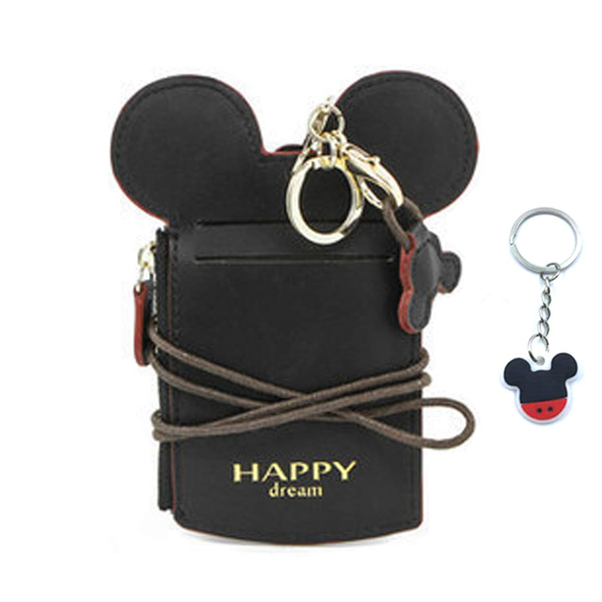 Disney Mickey Mouse Gift Card Holder Mini Zippered Pouch with Key Ring