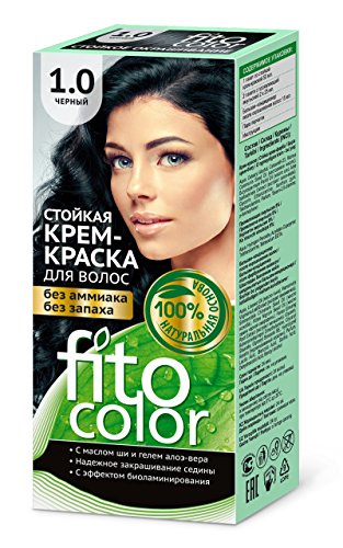 FITOCOLOR - Tinte para el pelo negro, 50 ml Саа ра раа