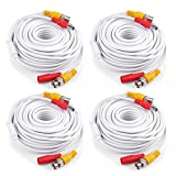 ANNKE (4) 15M / 50 Feet BNC Video Power Cable, Special Design for HD CCTV Camera DVR Security System