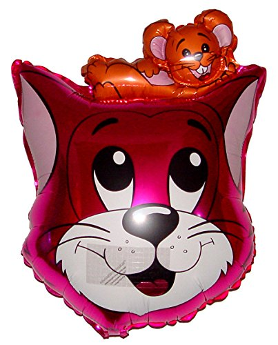 SPACE PET Anti-Gravity Hovering Flying Floating TOM CAT Pink 27 inch Toy Pet Balloon Party Favor