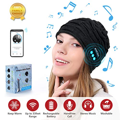 Sunnywoo Bluetooth Beanie Hat Bluetooth Hat Women Mens Beanie Hats...