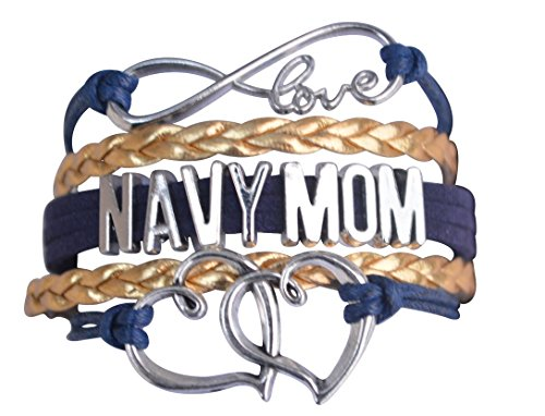 Navy Mom Jewelry, Navy Mom Bracelet, Proud Navy Mom Charm Bracelet - Makes Perfect Mom Gifts