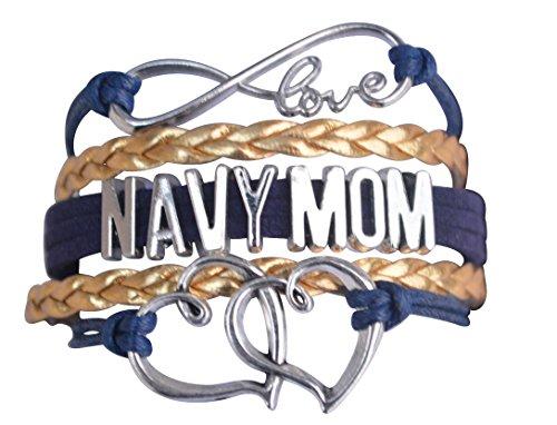 Navy Mom Jewelry, Navy Mom Bracelet, Proud Navy Mom Charm Bracelet - Makes Perfect Mom Gifts