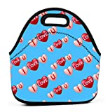 Leakproof Insulated Reusable Lunch Bag - Durable Compact Office Work School Lunch Box basic rgb Electric