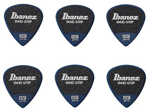 Ibanez PPA16HSG Wizard Series, Sand Grip Picks 6 Pack 1.0mm (PPA16HSGDB),Dark Blue