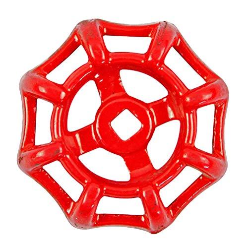 Yardwe Gusseisen Ventil Griff Absperrschieber Kugelhahn Handrad Absperrventil Dekorative Wasserleitung Armaturen 50 (Rot)