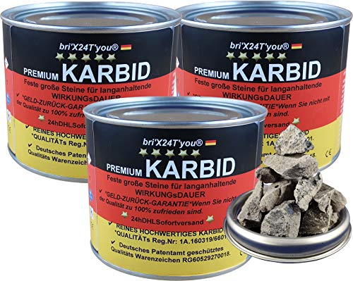 bri\'X24T\'you Karbid**NEU**1,500KG +Marken Premium Karbid der Firma BRIN\'X UNERREICHT in QUALITÄT u. WIRKUNGsDauer(3x0,500KG=1,500KG)