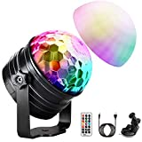 OMERIL Disco Light with Mood Light Mode, 7 RGB Color Changing, Timer and Dimmable Function, 2 in 1 Sound Activated Disco Ball Light for Party Kids' Birthday Home Bedroom [USB Powered, Remote Control]