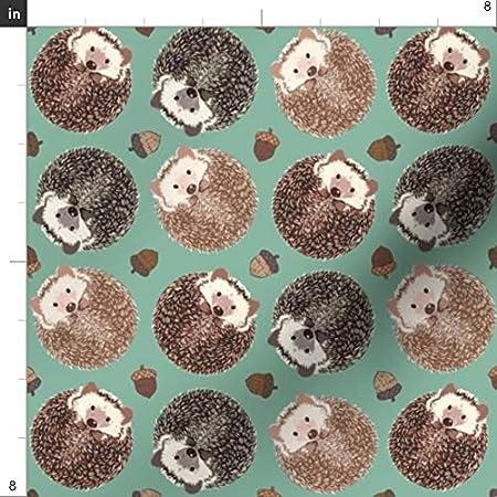 prestigious textiles spike hedgehogs fabric upholstery material woodland acorns