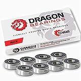 Fireball Dragon Precision Skateboard Bearings | 608 Bearing for Skateboards, Longboards, Inline Skates, Roller...