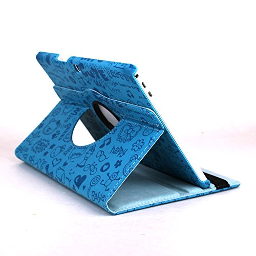 "Theoutlettablet® Funda Giratoria 360º para Tablet Bq Aquaris M10 10.1"" Book Cover Case Protección Delantera y Trasera"