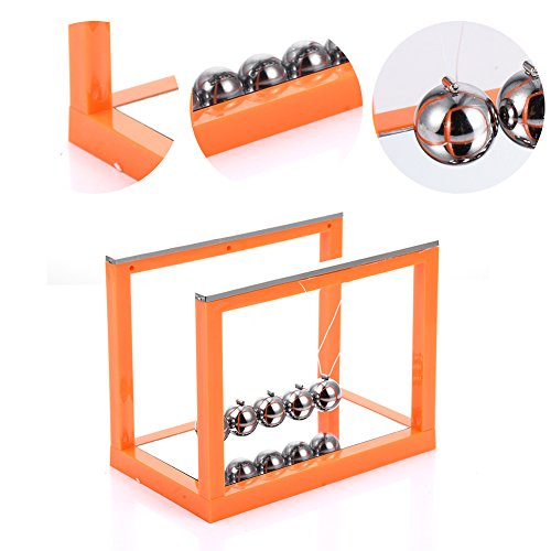 Sundlight physique Science Pendule Base ovale Arch support Boule en acier Home Decor, Orange