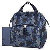 Wickeltasche mit breitem offenem Rahmen, Rucksack und Wickeltasche, Tragetasche mit Wickelunterlage, Kinderwagengurte