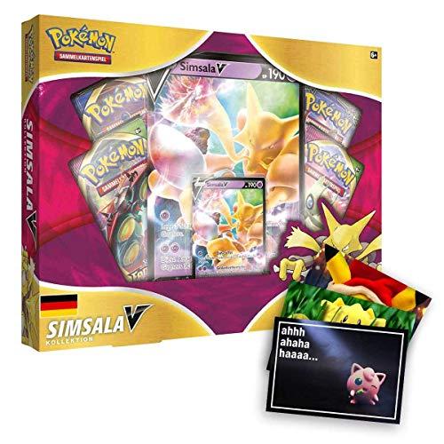 Lively Moments Pokemon Karten Simsala V Kollektion Deutsch DE und Exklusive GRATIS Grußkarte