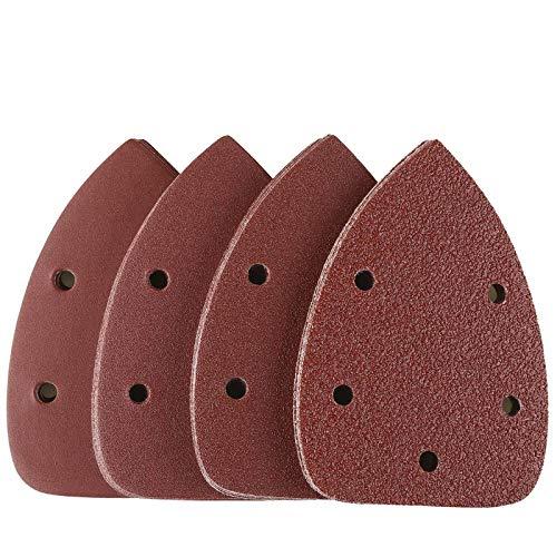 Carte Abrasive per Legno 40 Pezzi Tacklife ASD01C Kit di Fogli Abrasive 4 Tipi 10 x 40/80 / 120/240 Graniglie Ideale per Levigare, Lucidare, e Rugginire