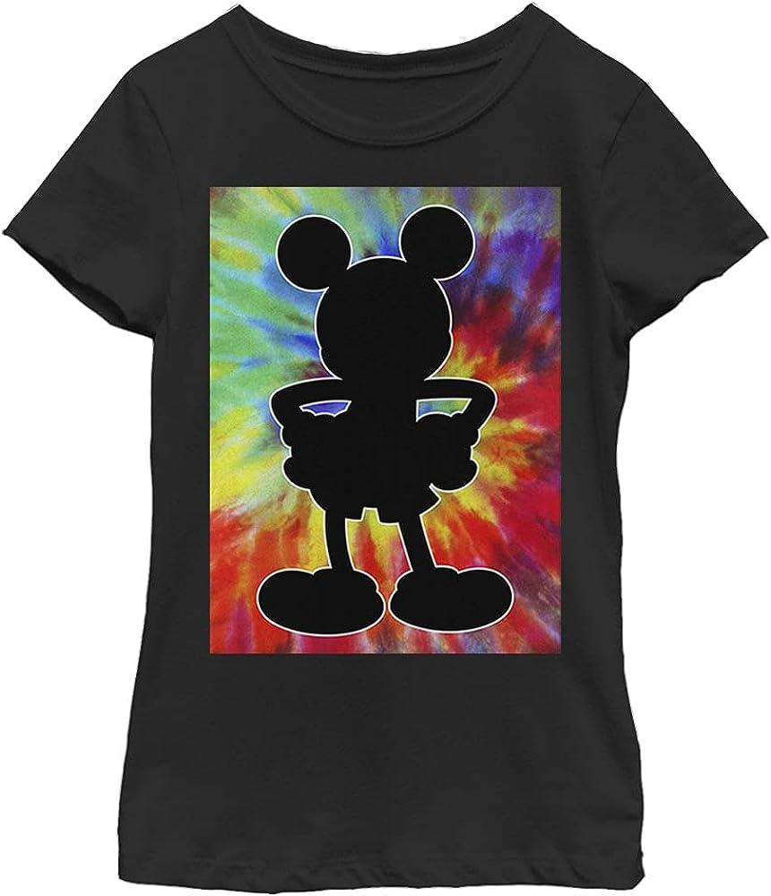 Disney Characters Travel Mickey Girl's Solid Crew Tee