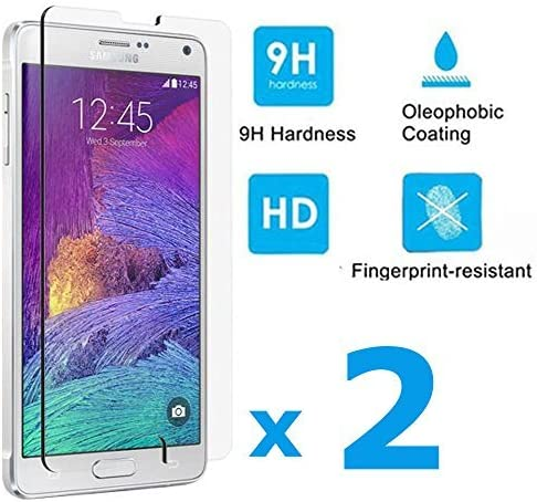 discount Samsung Galaxy Note 4 Screen Protector, 2 Pack Premium Tempered Glass high quality Screen Protector for online Samsung Galaxy Note 4 online