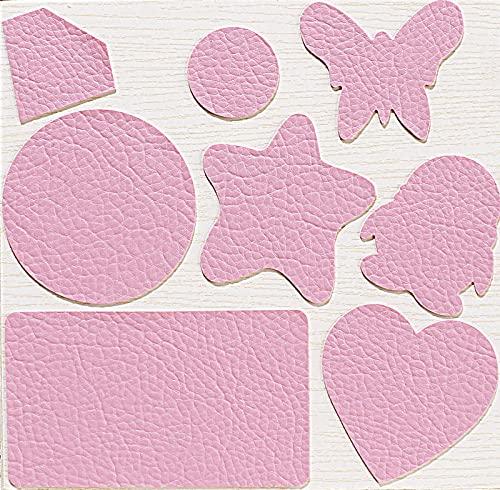 Kit de Parche de Piel,Parches de Piel Cuero Artificial, para Sofá Asientos de Coche Pegatina de Reparación de Polipiel Parches rosado