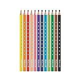 Pelikan 700665 Matite Colorate per Bambini, 24 Colori Silverino, Scorta Scuola, Forma Tria...