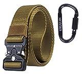 GRULLIN MOLLE Tactical Rigger Belt Cinturón de herramientas de liberación rápida militar, 3.2CM Nylon Web BDU EDC Heavy Duty Belt, Ideal para jeans, vaquero, ropa de trabajo (Color de la tarjeta-33)
