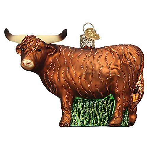Old World Christmas Highland Cow Ornament