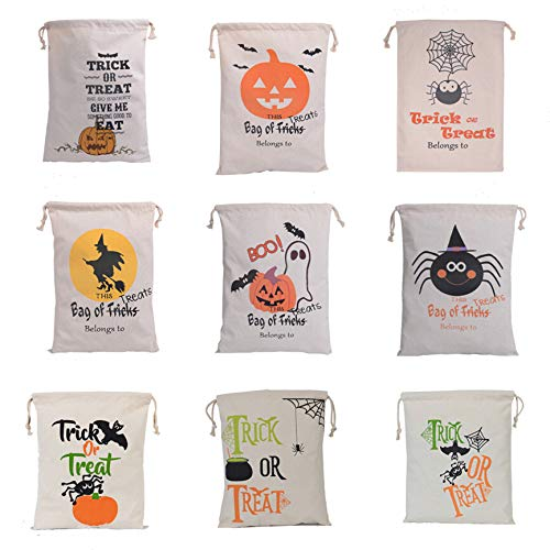 Gshy Candy Bags Halloween Trick Treat Bags Storage Bag Children Candy Cartoon Bag Style Random