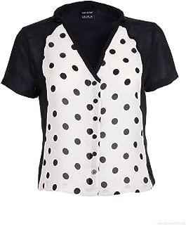 Isabel de Pedro Short Sleeve Spotted Womens Short Sleeve Shirt