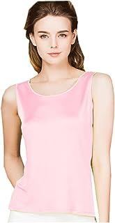 d2d957daca METWAY Women's Shirts Classic Silk Sleeveless Tank Tops
