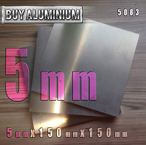 BuyAluminium 5083 - Placa de aluminio (5 mm), 150mm x 150mm, 1