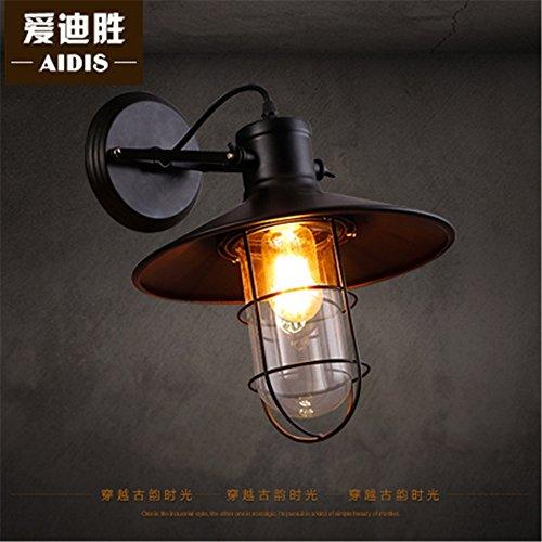 DengWu wandverlichting Sepia restaurant gang lucht industriële balkon creatieve persoonlijkheid villa lampen magazijn glas wandlampen (27 * 30 cm) vogelkooi