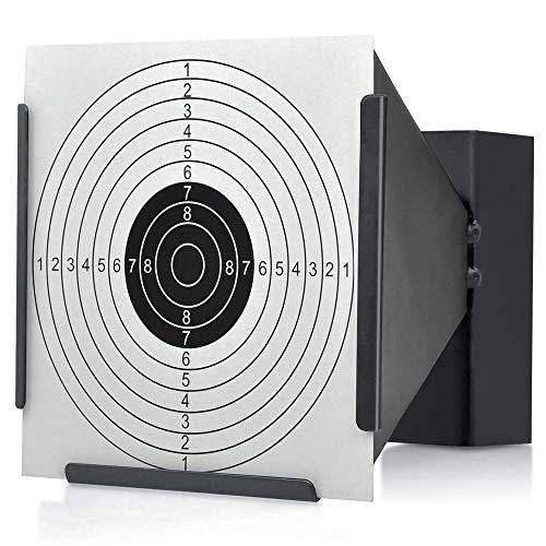 Popamazing-portabersaglio, con raccogli pallini, 14 cm, per pratica con fucile ad aria compressa, pistola e armi in generale