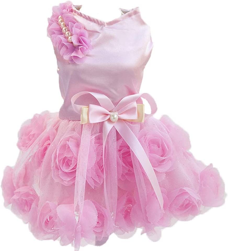 Delifur Dog Wedding Dress Pet Birthday Sales results No. 1 Max 72% OFF Smal Tutu Party for
