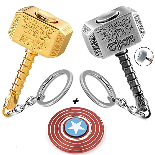 Sio & Tan Thor Stormbreaker Hammer Axe Thanos Glove Iron Man Keychain Infinity Gauntlet Key chain Key Ring