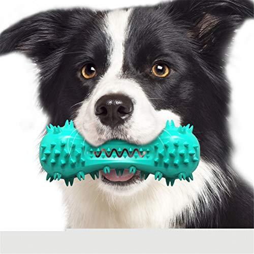 HDDFG Juguetes duraderos de Limpieza de Dientes para Perros para masticadores, Juguetes para Masticar de Goma Seguros para Mascotas, Juego de Cachorros para aliviar la ansiedad (Color : Blue)