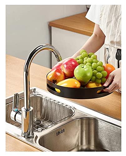 Qianglin Acero Lazy Susan Gabinete Rotativo Organizadores y Almacenamiento Turnato de Placa giratoria Turnato de Cocina Spice Shelf, bastidores de condimento (Color : 23cm/9inch)