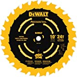 DEWALT 10-Inch Miter / Table Saw Blade, ATB, Ripping, 5/8-Inch Arbor, Tough Coat, 24-Tooth (DW7124PT)