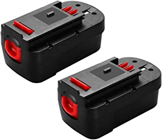 2Packs Upgrade to 3800mAh HPB18 Replace for Black and Decker 18 Volt Battery Ni-Mh HPB18 244760-00 A1718 FS18FL FSB18 Firestorm