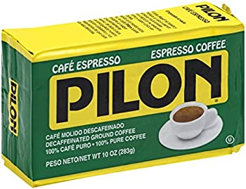 12-Pack Pilon Decaffeinated Espresso Coffee, 10 Ounce