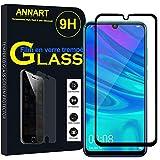 ANNART - Protector de pantalla de cristal templado para Huawei P Smart (2019) 6.21' POT-LX3/POT-LX1/POT-AL00/POT-LX1AF/POT-LX2J/LX1RUA, color negro
