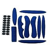 Nrpfell Casco de ProteccióN Acolchado de Esponja Sellada Casco de Bicicleta de Almohadillas Interiores Almohadillas Azules para Casco de Ciclismo