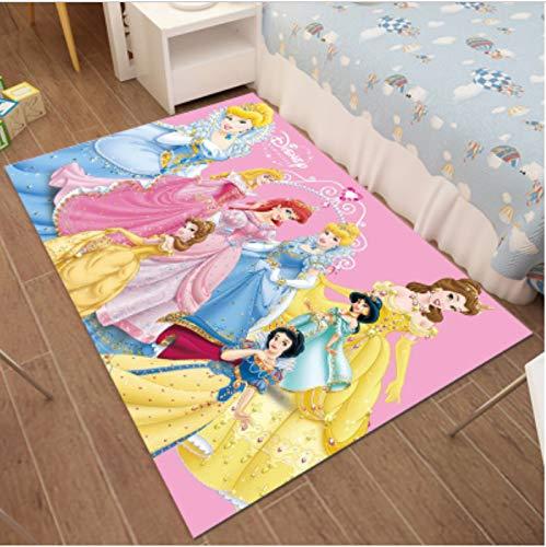 zzqiao Rectangular Estilo Europeo Y Americano Dibujos Animados Anime Blancanieves Habitación Infantil Alfombra Chica Princesa Dormitorio Cama Tienda Completa 100 * 160 m
