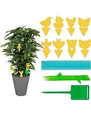 Halcyerdu 100 Stuks Insect Trap Stickers, Vliegenvallen Stickers, Sticky Fly Traps, Ongedierte bestrijden en planten beschermen