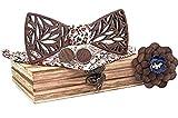 BeForBio Noeud papillon bois fait main, chic et tendance, accessoire mode ou idée...