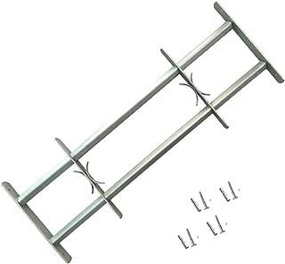vidaXL Reja de Seguridad para Ventanas Ajustable con 2 Travesaños 1000-1500mm