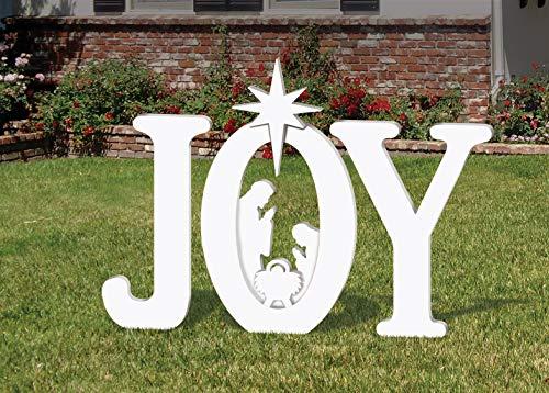 Frontyard Originals Outdoor Joy Nativity (White)