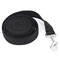 【LONG NYLON TRAINING LEASH】 This Dog training leash is great for teaching your dog treats or recalls. Allows you to teach your dog recalls and other obedience skills. The 5meters long dog lead is used for train the re-call of your pets like Samoyed, ...